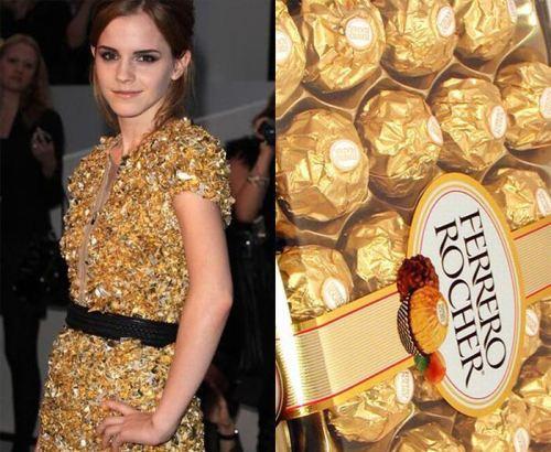ferrerro rocher, chocolate, dress, hermione granger, emma watson