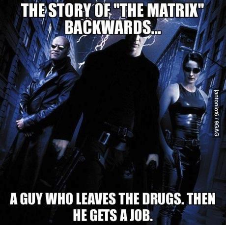 meme, the matrix, poster, backwards, movie