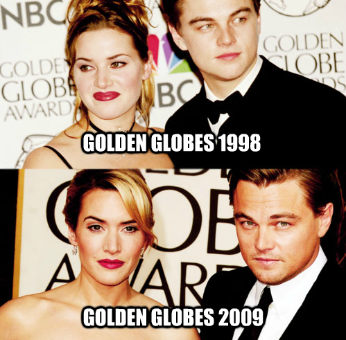 then and now, actor, kate winslet, leonardo di caprio