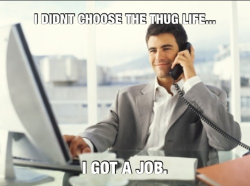 thug life, job, meme