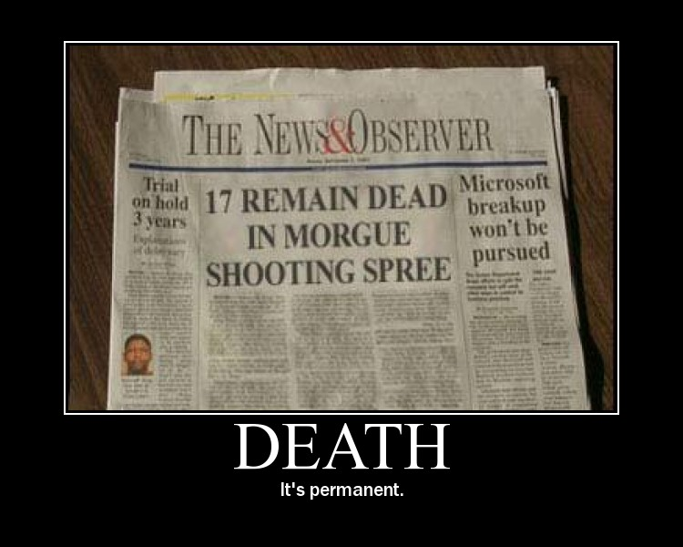 motivation, death, permanent, morgue, shooting spree