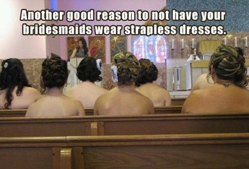 wedding, marriage, strapless, naked, church