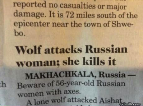 wolf, news, russia, woman