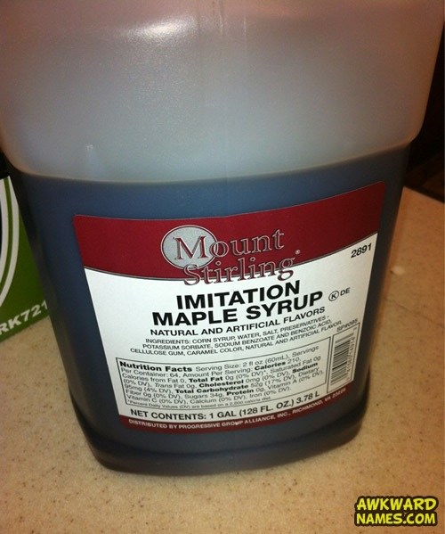 maple syrup, immitation