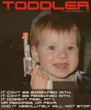 toddler, movie poster parody