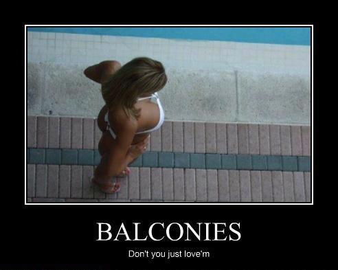 motivation, balcony, view, perspective, tits, cleavage, bikini, sexy, girl