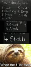 seven deadly sins, sloth, meme