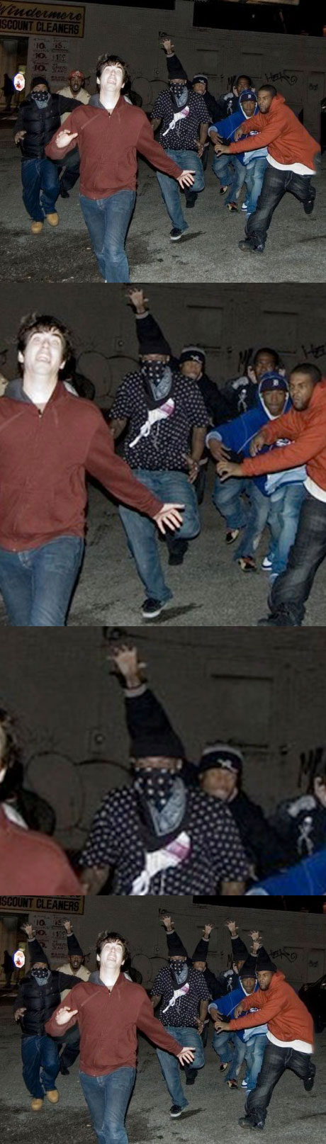 detroit, gang, white guy, chase, photoshop, wtf, arm