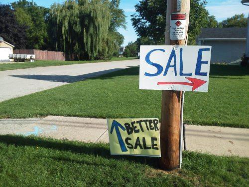 sale, better sale, competing garage sales