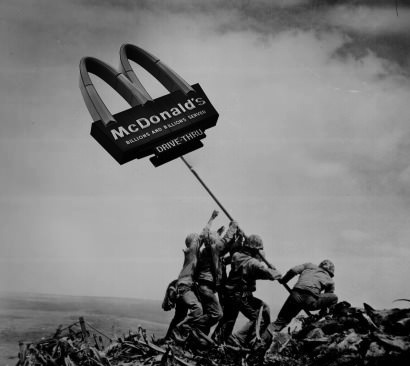 'merica, mcdonalds, flag, photoshop