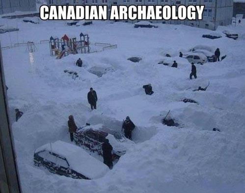 canada, snow storm, archaeology, meme