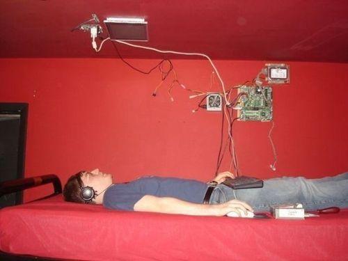 computer, lying down, engineer