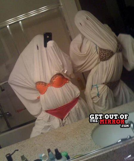 wtf, mirror, bed sheets, ghost