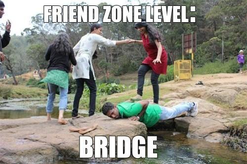 friendzone, level, meme, bridge