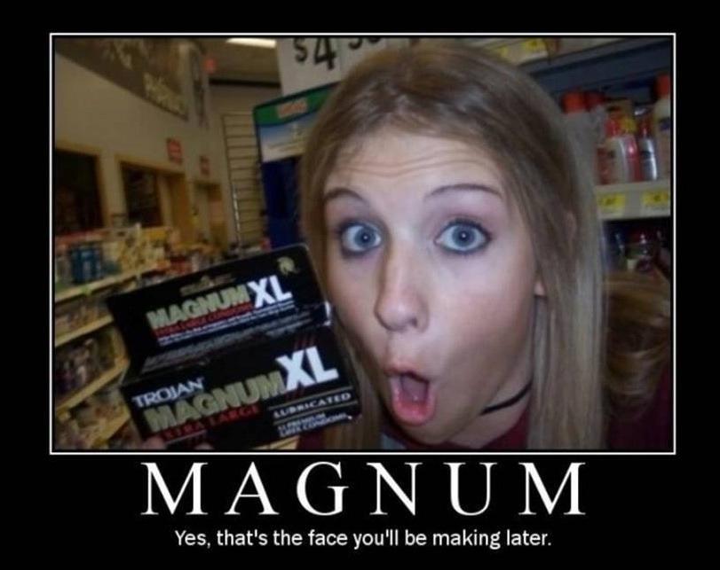 hot girl, magnum, face, condom, motivation
