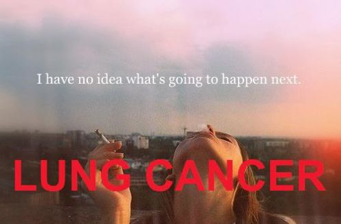 I have no idea what is going to happen next, girl smoking a cigarette, lung cancer