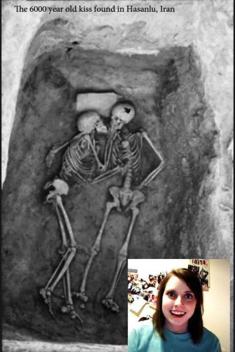 kiss, grave, love, skeleton