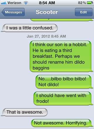 dyac, dildo baggins, hobbit, third breakfast