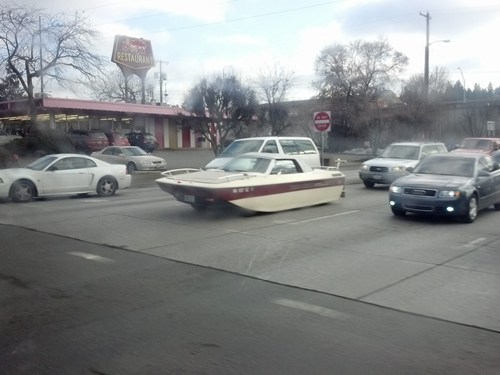 wtf, car, street, boat