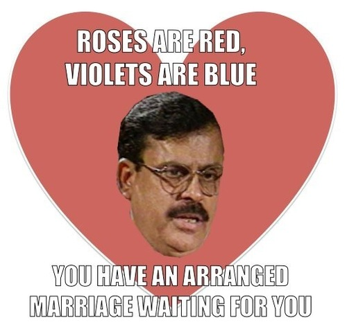 roses are red, violets are blue, you have an arranged marriage waiting for you