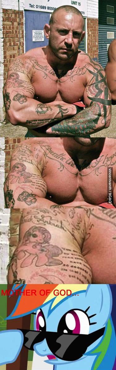 tattoo, pony, wtf, muscles