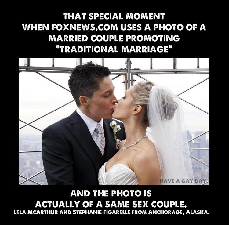 lesbian, fox news, traditional marriage