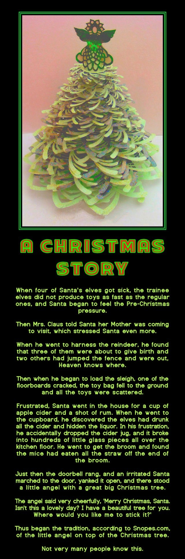 christmas, tree, angel, story, santa, lol, elves