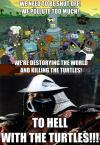 bender, turtles, shredder, futurama