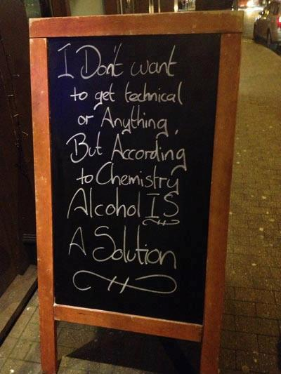 alcohol, solution, bar sign
