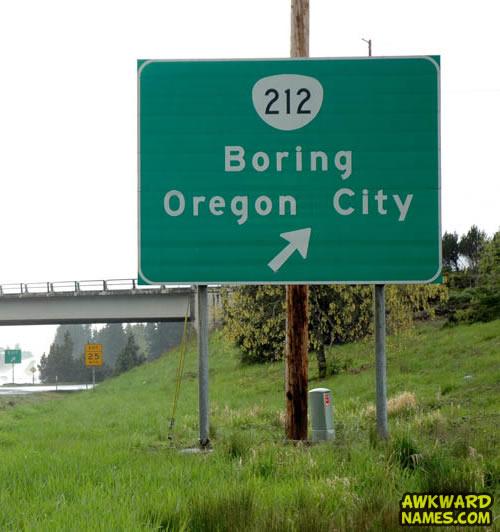 road sign, boring, oregon