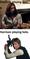 harrison ford, george harrison, solo