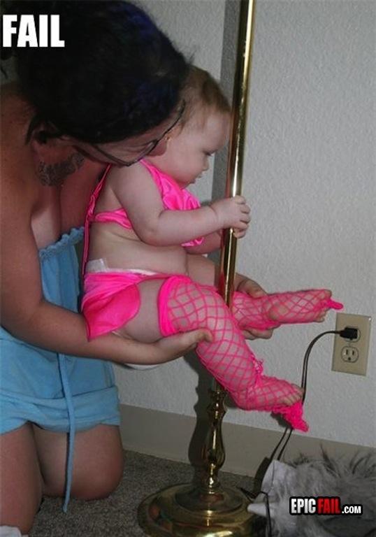 kids, costume, fail, bad parenting, wtf, stripper pole