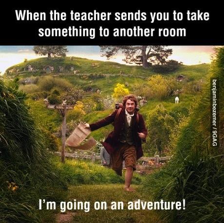adventure, the hobbit, school, teacher, student