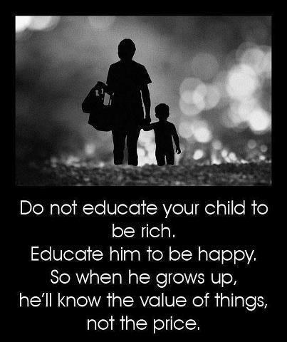 rich, happy, children, raise