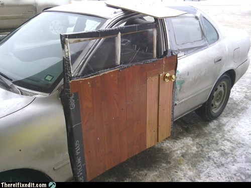 car door fail, wtf