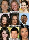 eyebrows, matter, ugly, face
