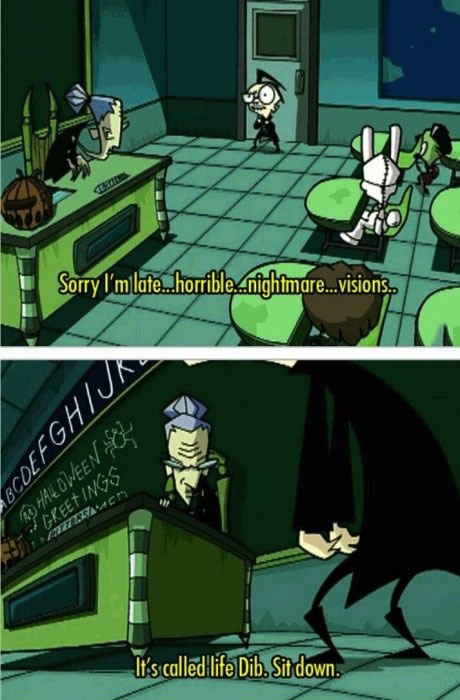 invader zim, horrible nightmare visions, life