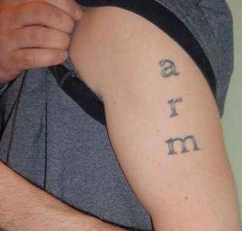 arm, tattoo, lame, fail