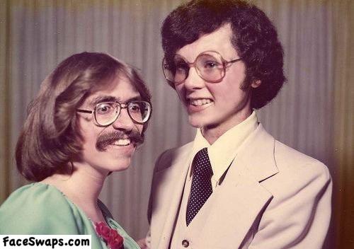 face swap, 70s