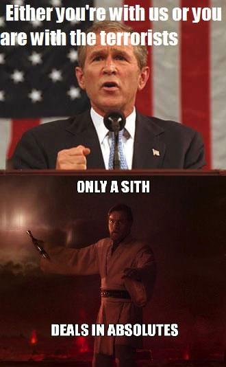 meme, absolute, george bush, star wars