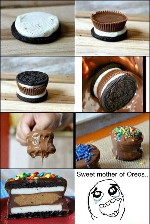 oreo, reeses peanut butter cup, dessert, creation, win