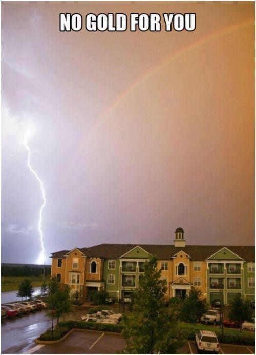 rainbow, lightning, meme, coincidence, timing