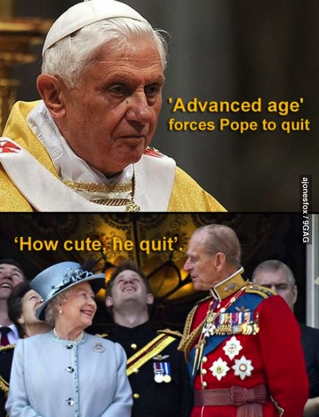 pope, old age, queen, england, rome