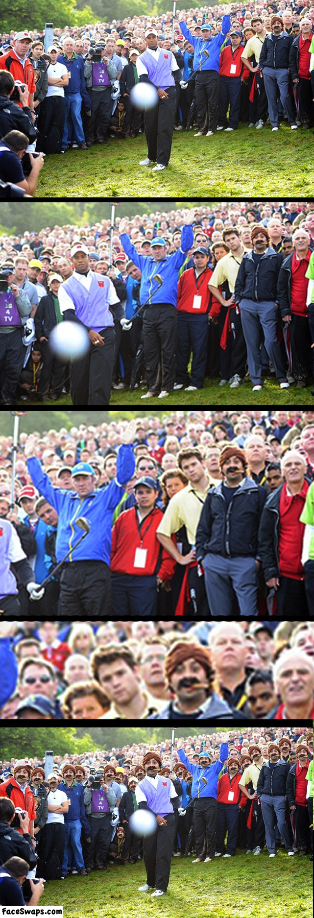 face swap, photoshop, tiger woods, cigar, lol, crowd