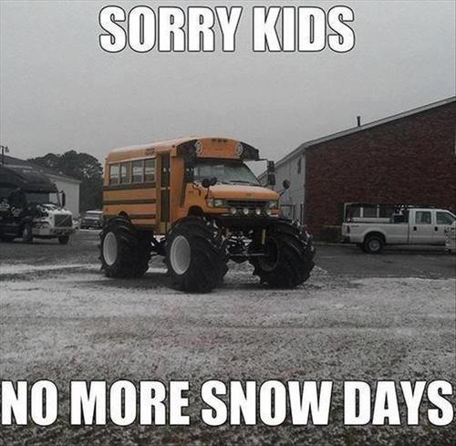 modified school bus, big wheels