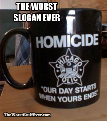 coffee mug, homicide, dark