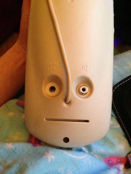 face, eyes, device