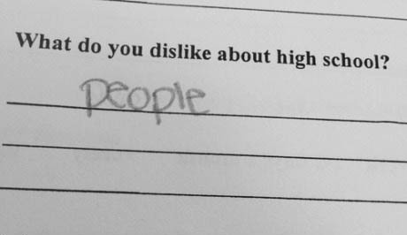 high school, dislike, people