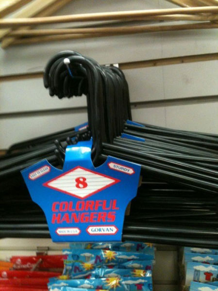 product, fail, hangers, colorful