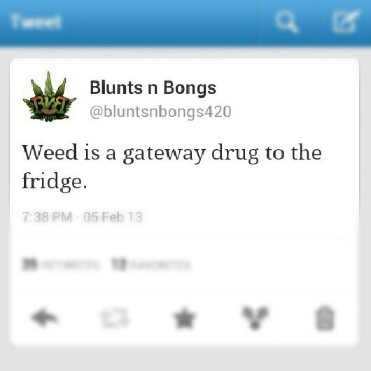 weed is a gateway drug to the fridge